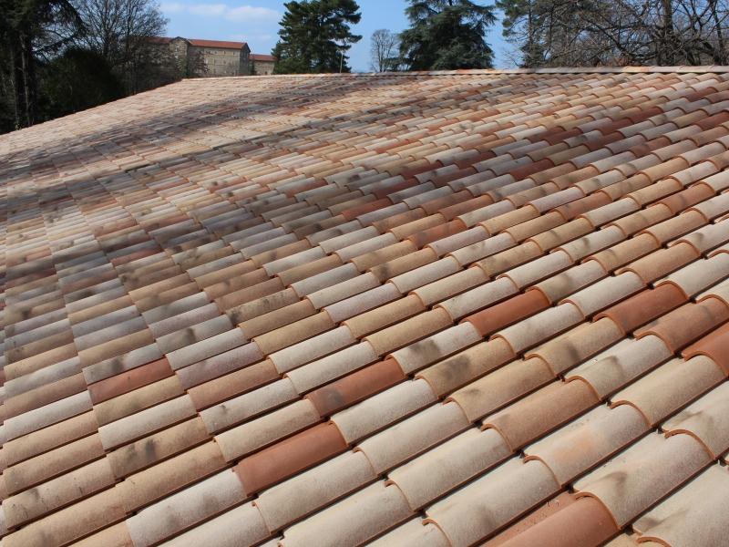 travaux de r fection de charpente bois toiture pan unique avec demi fa tage r habilitation d. Black Bedroom Furniture Sets. Home Design Ideas